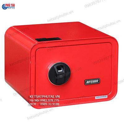Két sắt mini vân tay màu đỏ AifeiBao D25-R