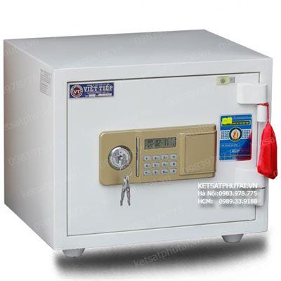 Két sắt mini Viêt Tiệp điện tử màu trắng VTE50-W