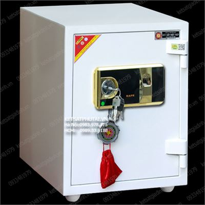 Két sắt vân tay màu trắng Việt Tiệp chống cháy VF51-W