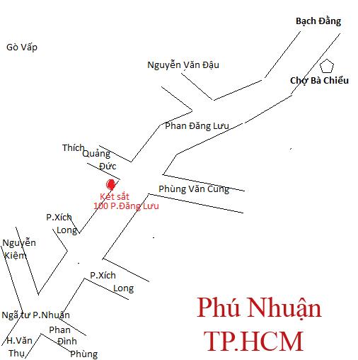 Sơ đồ tới 100 Phan Đăng Lưu, Phú Nhuận