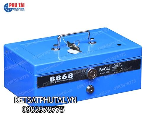 Hộp đựng tiền mật mã 8868-Blue