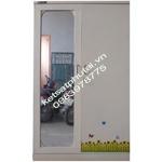 Tủ quần áo cánh gương Goonsan kem TB2CG-K