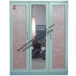 Tủ quần áo gương 2 khoang 3 cánh xanh TB3C-X