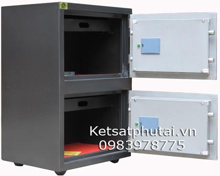 Két sắt Việt Tiệp hai tầng khóa điện tử báo động VEE86
